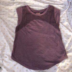 Purple loose top